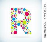 modern letter r circle stroke... | Shutterstock .eps vector #479141344