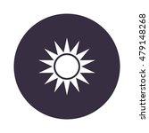 sun icon  flat design style