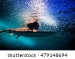 sport model surfer in bikini... | Shutterstock . vector #479148694