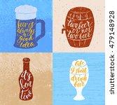 set of 4 hand lettering phrases ...   Shutterstock .eps vector #479148928