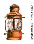 lantern watercolor | Shutterstock . vector #479154364