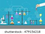 chemists scientists equipment.... | Shutterstock .eps vector #479156218