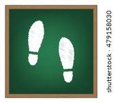 imprint soles shoes sign. white ...