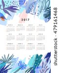creative calendar 2017.... | Shutterstock .eps vector #479161468