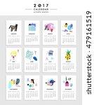 creative calendar 2017.... | Shutterstock .eps vector #479161519