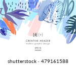 creative universal floral... | Shutterstock .eps vector #479161588
