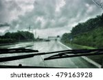 driving car in the rain | Shutterstock . vector #479163928