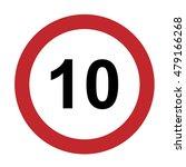 speed limit sign number ten 10...   Shutterstock .eps vector #479166268