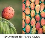 2 Photos Collage Of Ripe...