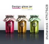 glass jar with jam. a template... | Shutterstock .eps vector #479175628