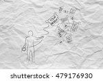 person with lasso catching your ...   Shutterstock . vector #479176930