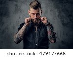 Portrait Of Bearded Hipster...
