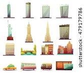 new york city buildings... | Shutterstock .eps vector #479179786