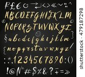 gold blob brush vector alphabet.... | Shutterstock .eps vector #479187298