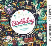 birthday background. collage... | Shutterstock .eps vector #479189644