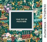 birthday background. collage... | Shutterstock .eps vector #479189650