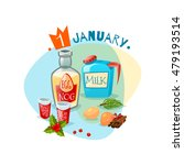 emblem with ingredients for... | Shutterstock .eps vector #479193514