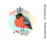 christmas logo with funny... | Shutterstock .eps vector #479193520
