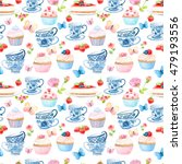 watercolor pattern and seamless ... | Shutterstock . vector #479193556