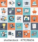 set of flat design icons for... | Shutterstock .eps vector #479198656