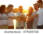 group of friends hanging out... | Shutterstock . vector #479205760