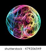 moving colorful lines of... | Shutterstock .eps vector #479206549
