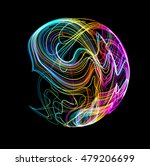 moving colorful lines of... | Shutterstock .eps vector #479206699
