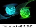 shining balls background   | Shutterstock .eps vector #479212033