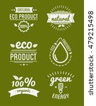 set of organic food labels and... | Shutterstock .eps vector #479215498