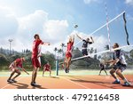 professional volleyball players ... | Shutterstock . vector #479216458