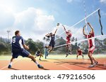 professional volleyball players ... | Shutterstock . vector #479216506