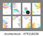 abstract background with liquid ... | Shutterstock .eps vector #479218258