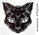 black cat head portrait. ideal... | Shutterstock .eps vector #479220334