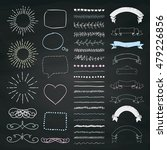 set of hand drawn doodle design ... | Shutterstock .eps vector #479226856