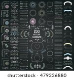 set of 200 hand drawn doodle... | Shutterstock .eps vector #479226880