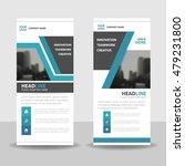 blue black roll up business... | Shutterstock .eps vector #479231800