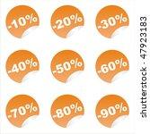 set of 9 orange sale stickers | Shutterstock .eps vector #47923183