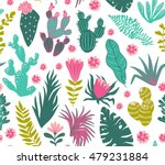 collection of tropical plants ... | Shutterstock .eps vector #479231884