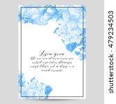 vintage delicate invitation... | Shutterstock . vector #479234503