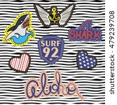 set of quirky cartoon patch... | Shutterstock .eps vector #479239708