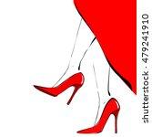 Female Feet In High Heeled...