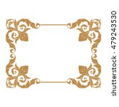 vintage baroque ornament. retro ... | Shutterstock .eps vector #479243530