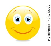 emoticon with big smile | Shutterstock .eps vector #479243986