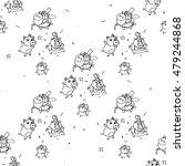 hand drawn piggy in doodles...   Shutterstock . vector #479244868