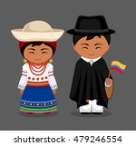 ecuadorians in national dress... | Shutterstock .eps vector #479246554