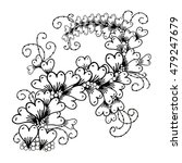 vector hand drawn ornate floral ...   Shutterstock .eps vector #479247679