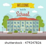 school flat colored poster with ... | Shutterstock .eps vector #479247826