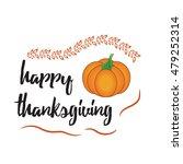 happy thanksgiving day logotype ... | Shutterstock .eps vector #479252314