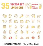 set vector icons graphic thin... | Shutterstock .eps vector #479253163