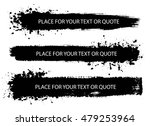 set of  hand drawn long brush... | Shutterstock .eps vector #479253964
